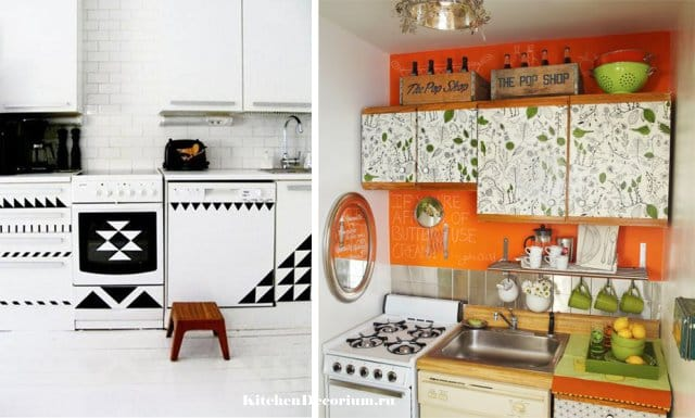 Красивая реставрация кухонного гарнитура