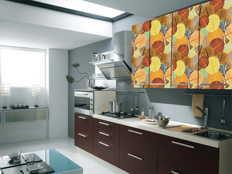 Красивая самоклеющаяся пленка для кухонного гарнитура