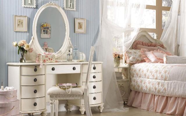 Красивая современная мебель для спальни в стиле прованс