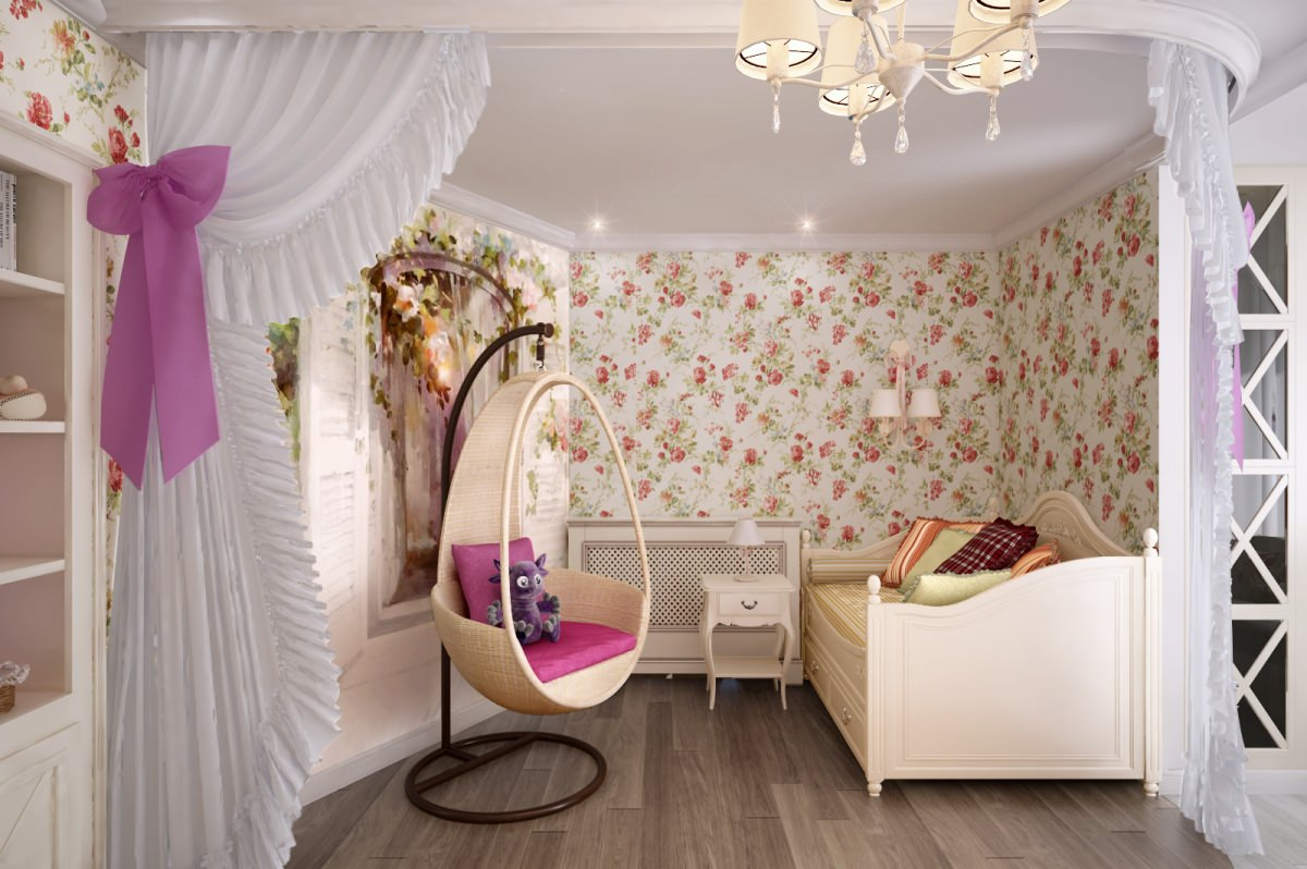 Красиво оформленнная комната