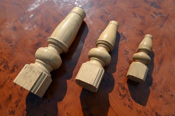 Красивые точеные деревянные мебельные ножки