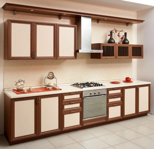 Красивый фасад кухонной мебели