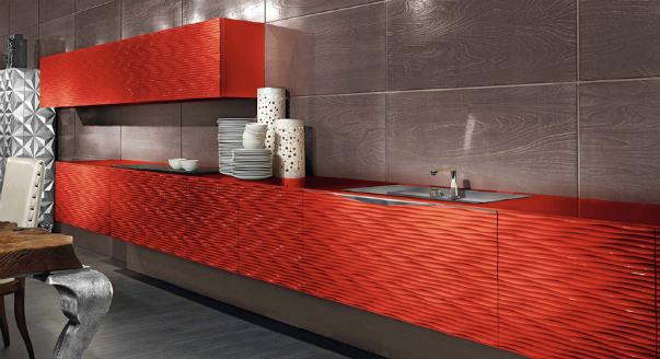 Кухня с приятным дизайном