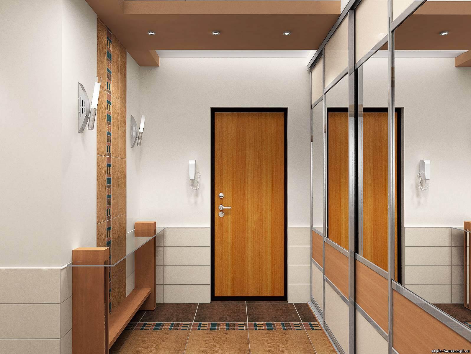 Линейная удобная мебель в узкий коридор
