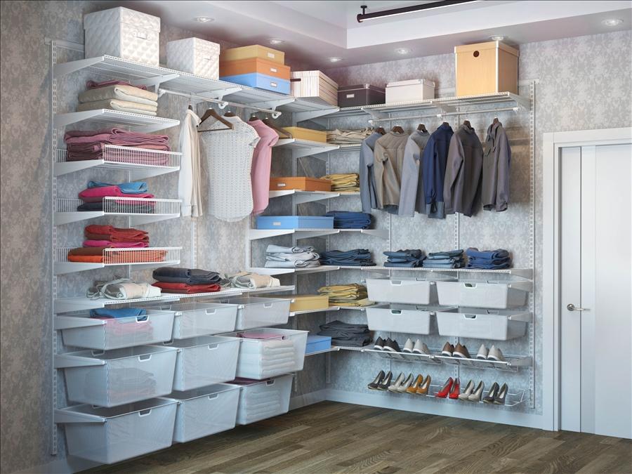 Почему для небольшого дома нужно выбрать сетчатые гардеробные системы