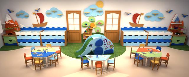 Мебель для детского сада из ПВХ