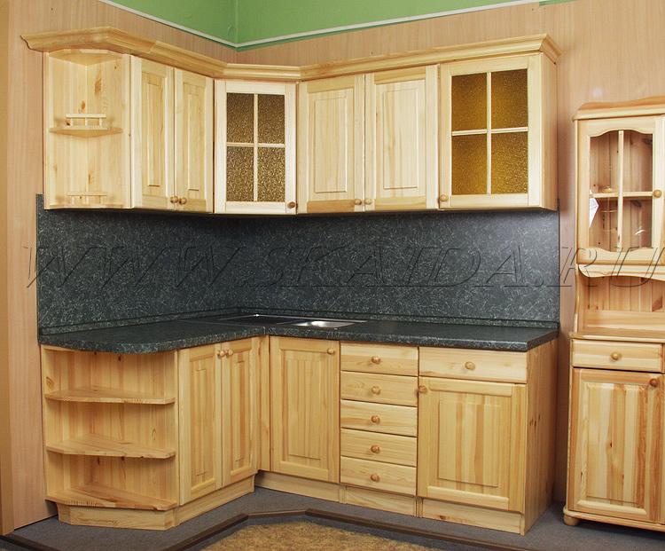 Мебель для кухни на основе дерева в светлых тонах