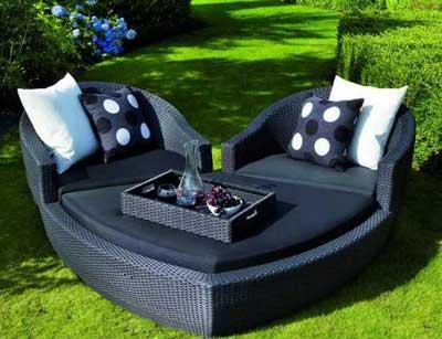 Дизайнерский плетеный диван