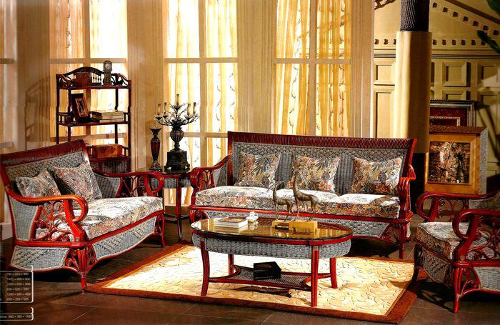 Мебель из ротанга колониального стиля
