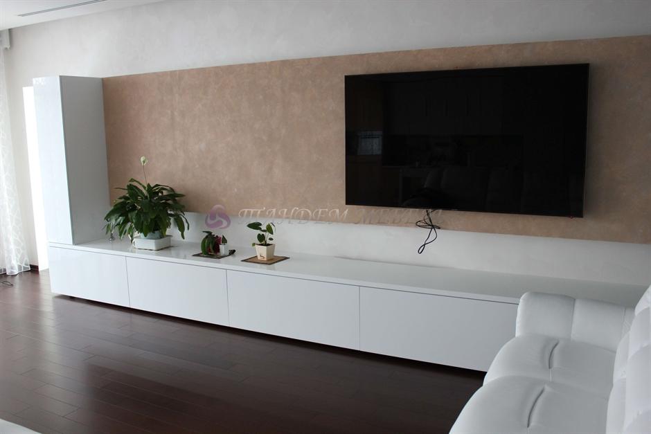 Мебель с глянцем для гостиной