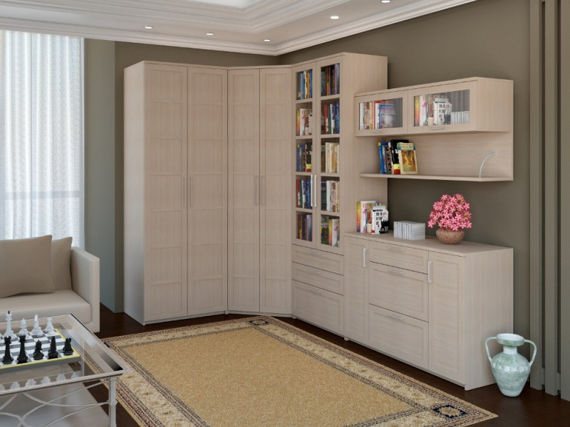 Беленый дуб цвет мебели фото