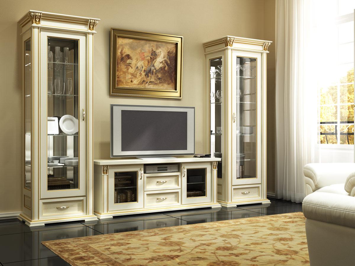 Мебель в гостиную из натурального дерева