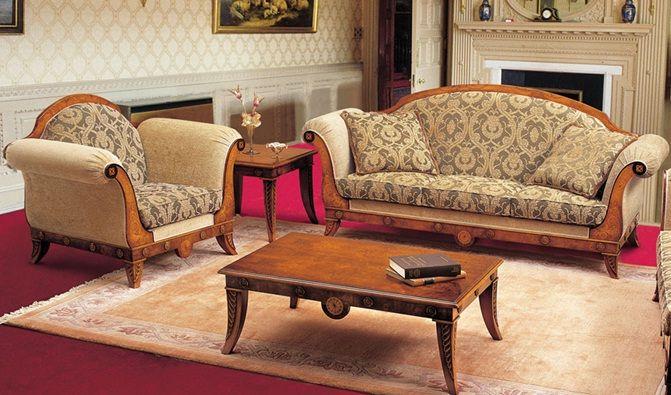 Мебель в гостиную классицизм