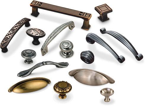 Мебельные ручки представлены во множестве вариантов