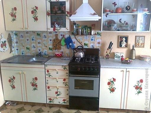 Милый декупаж для кухонного гарнитура