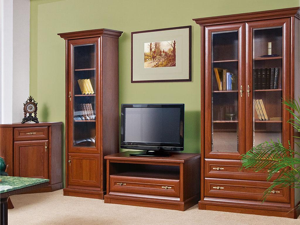 Модульная корпусная мебель для гостиной кантри