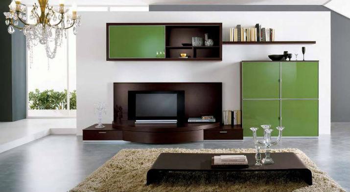 Модульная мебель выглядит компактно в гостиной