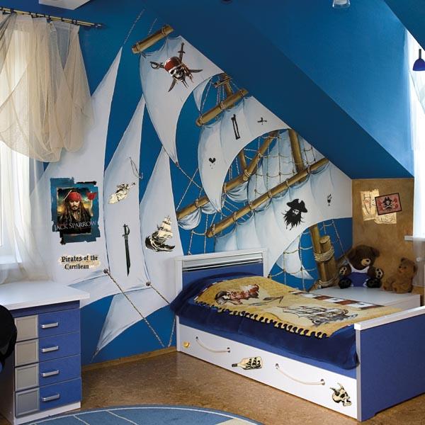 Морская тематическая детская мебель