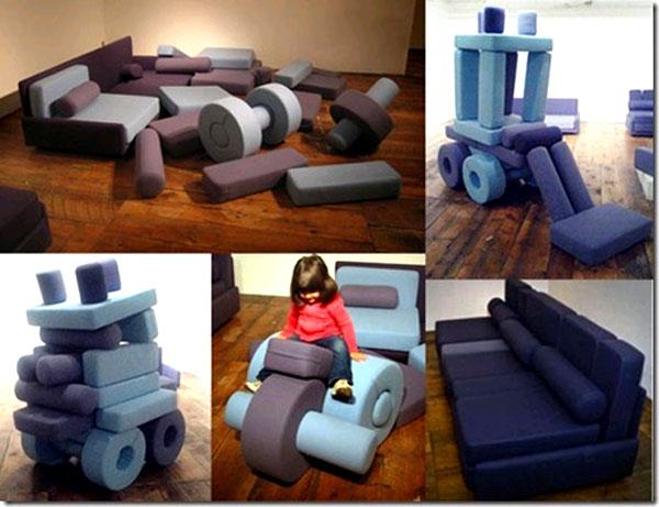Мягкая детская игровая мебель