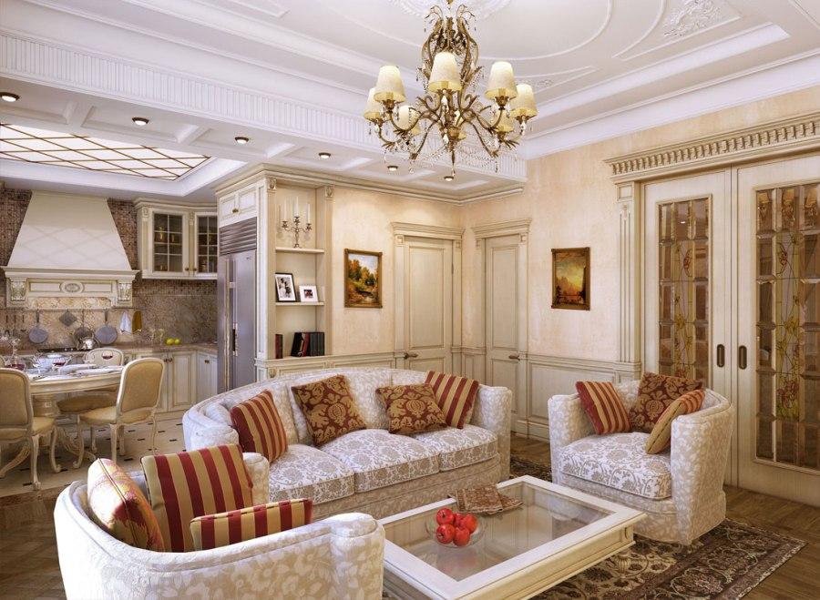 Мягкая мебель в гостиную классического стиля