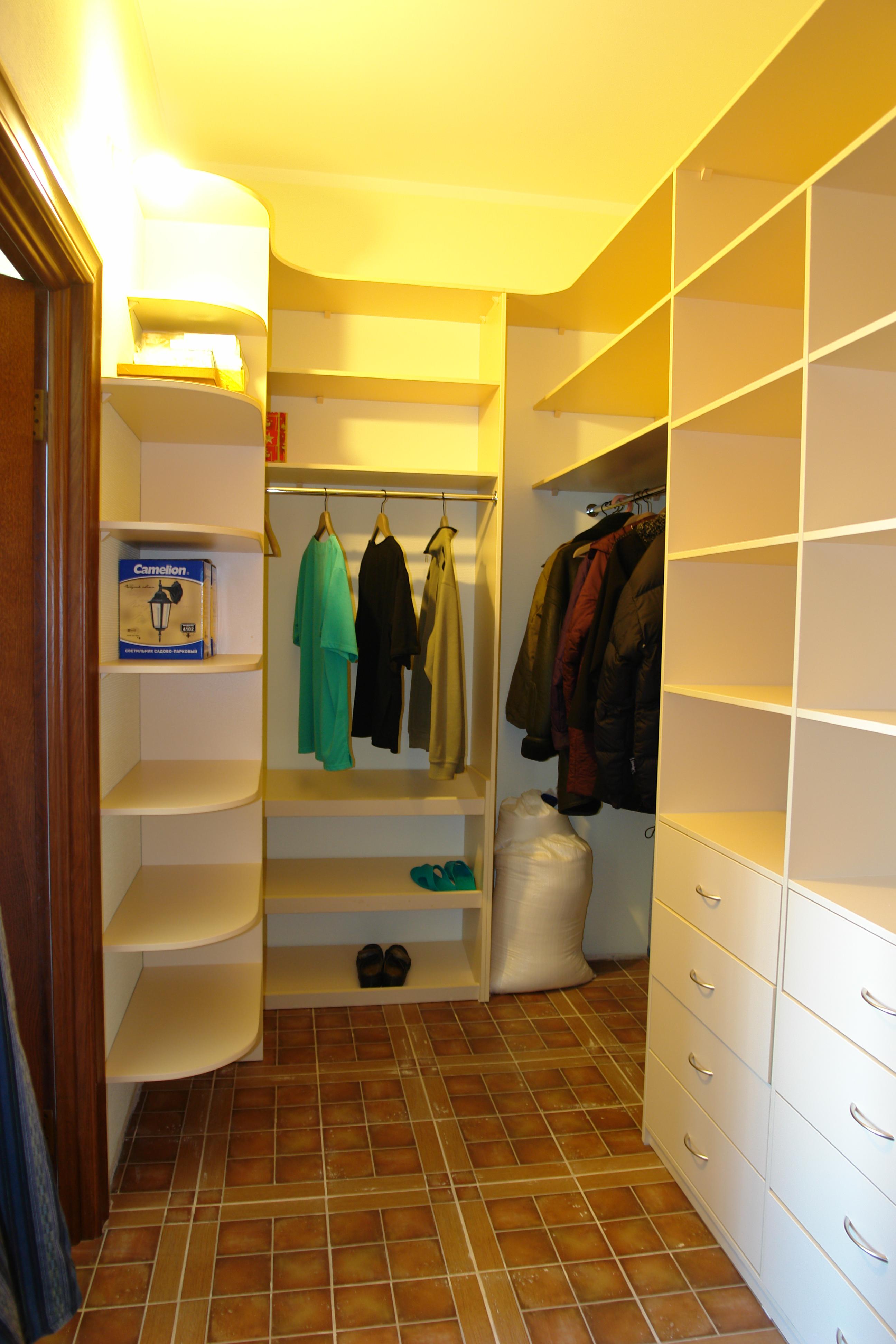 Наполнение гардероба 4 кв м