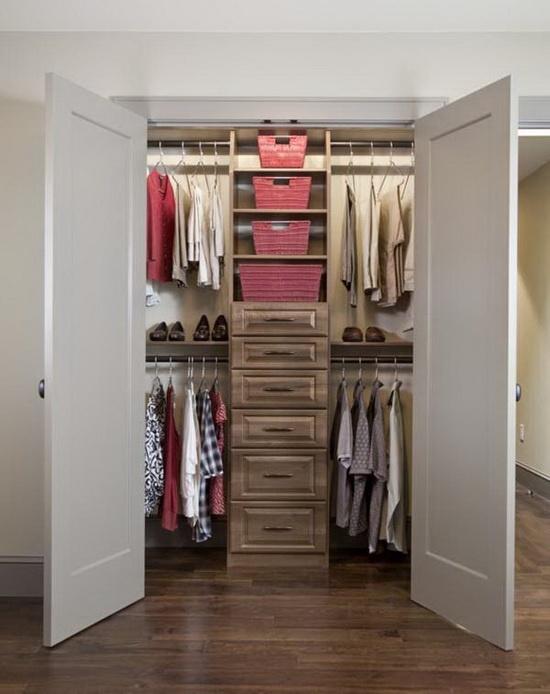 Небольшая гардеробная комната 4 кв м