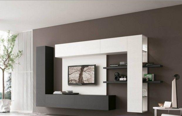 Небольшая гостиная с модульной практичной мебелью