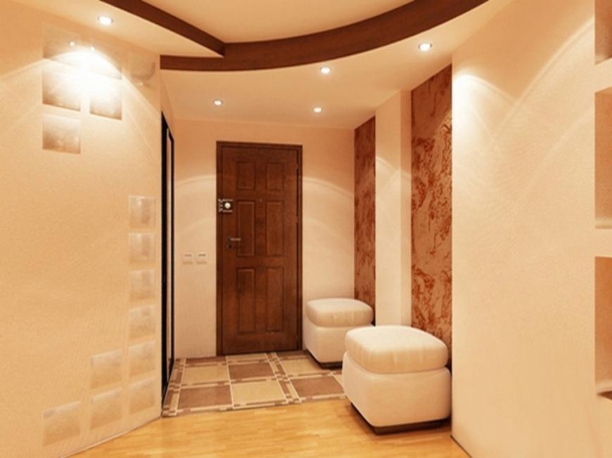 Небольшая комната с эффектным обустройством