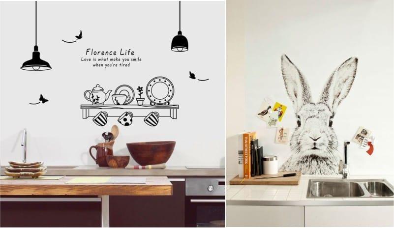 Необычные наклейки для кухонного гарнитура