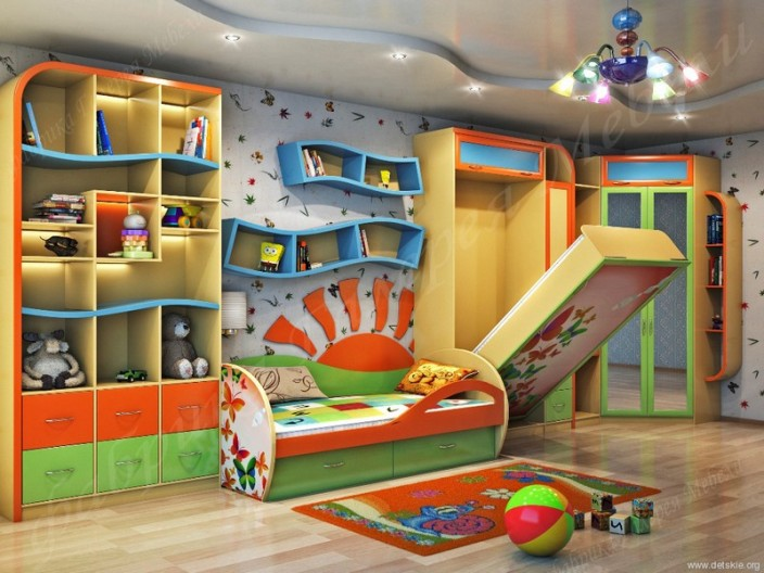 Незакрепленная модульная мебель для детской