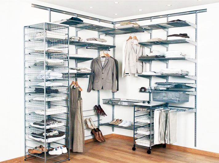 Нюансы использования сетчатой гардеробной системы