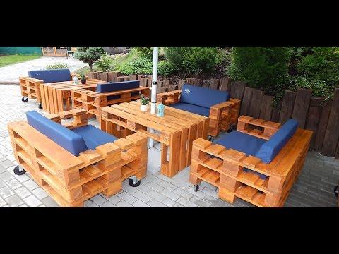 Обустройство сада мебелью своими руками