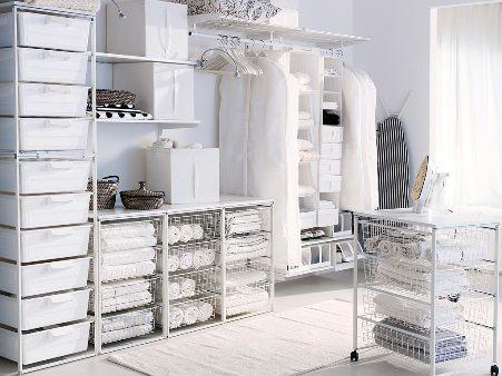 Обустройство сетчатой гардеробной системы