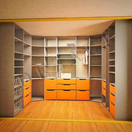 Оформленное гардеробное помещение