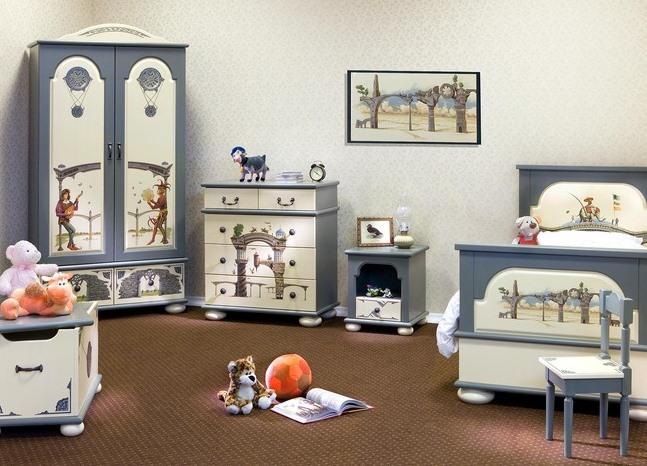 Оригинальная детская мебель из массива