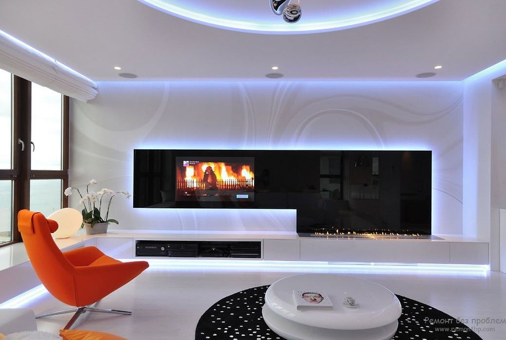 Оригинальная мебель для гостинной в современном стиле
