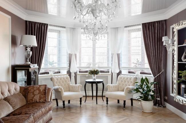 Оригинальная мебель в гостиную классического стиля