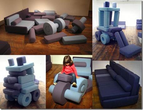 Оригинальная поролоновая мебель