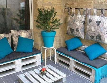 Оригинальная садовая мебель из поддонов