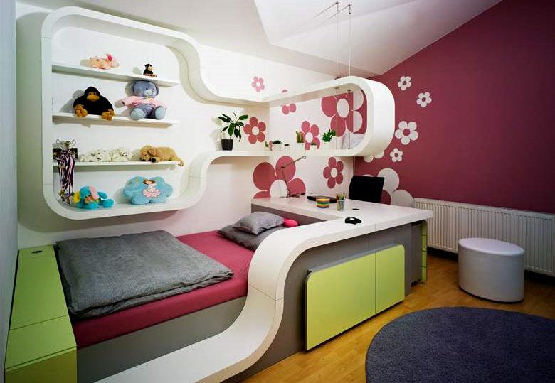 Дизайн интерьера детской для девочки 2 лет