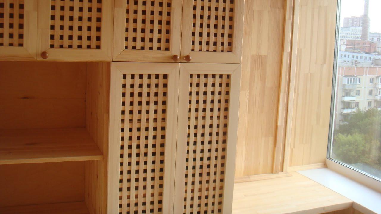 Отделка лоджии мебельным щитом