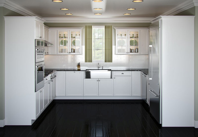 П образная мебель на кухне