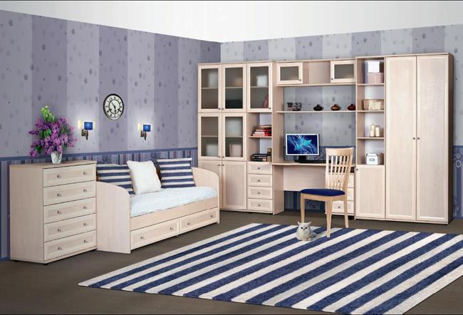 Пастельный детский набор мебели