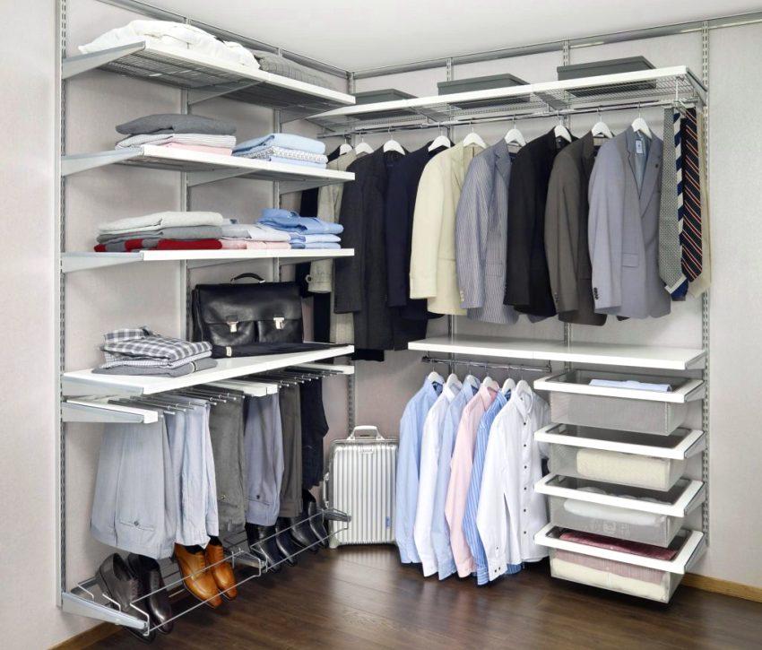 Пластиковая сетчатая гардеробная комната