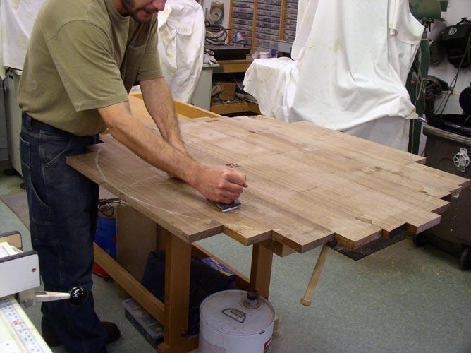 Подготовка мебельного щита