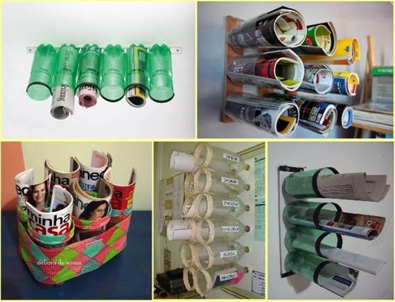 Полка из пластиковых бутылок