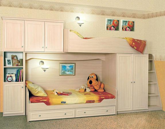 Практичная детская корпусная мебель