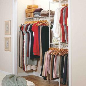 Практичная гардеробная сетчатого типа