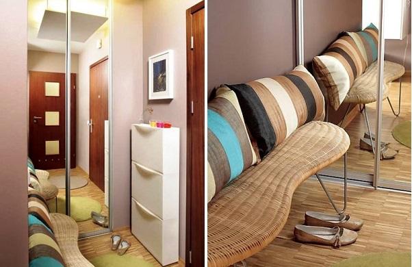 Практичная мебель в узкий коридор в доме