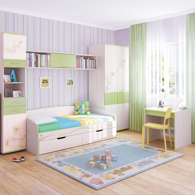 Практичная модульная мебель для малышей